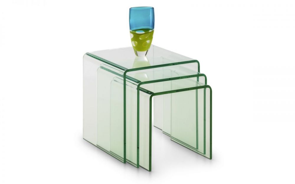 Glass & Gloss Nested Tables