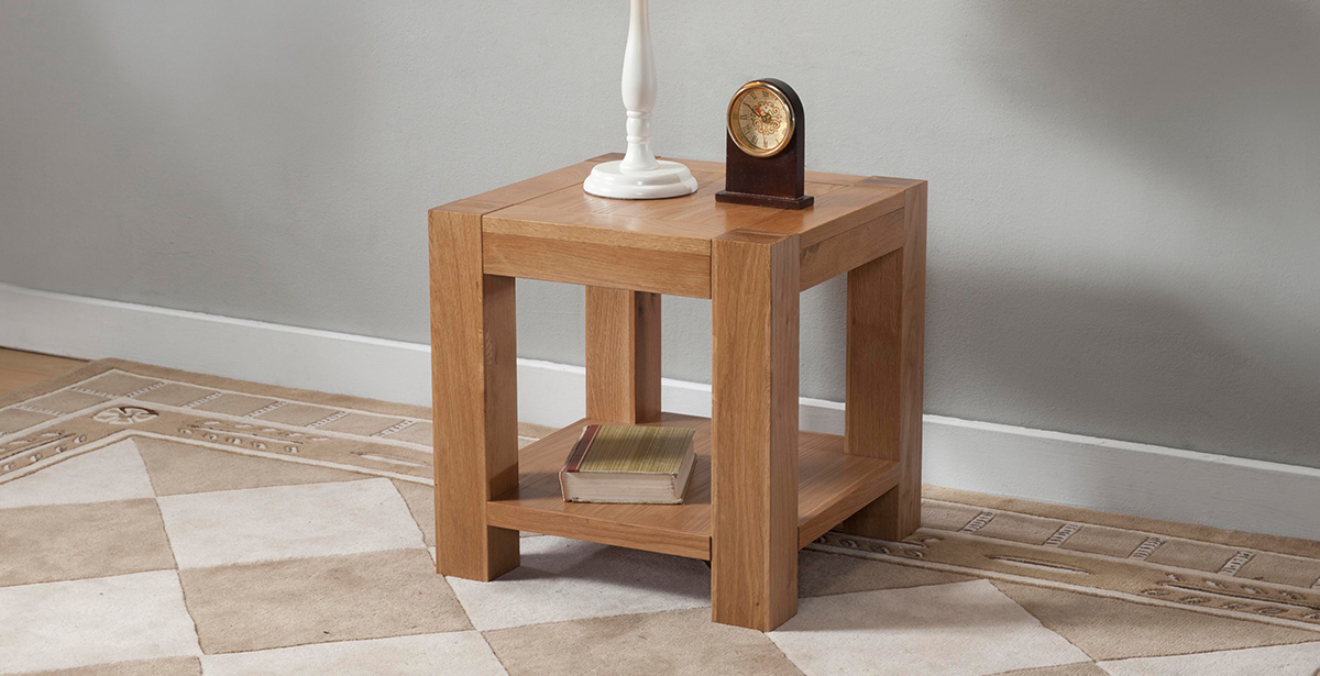 Light Wood Lamp & Side Tables