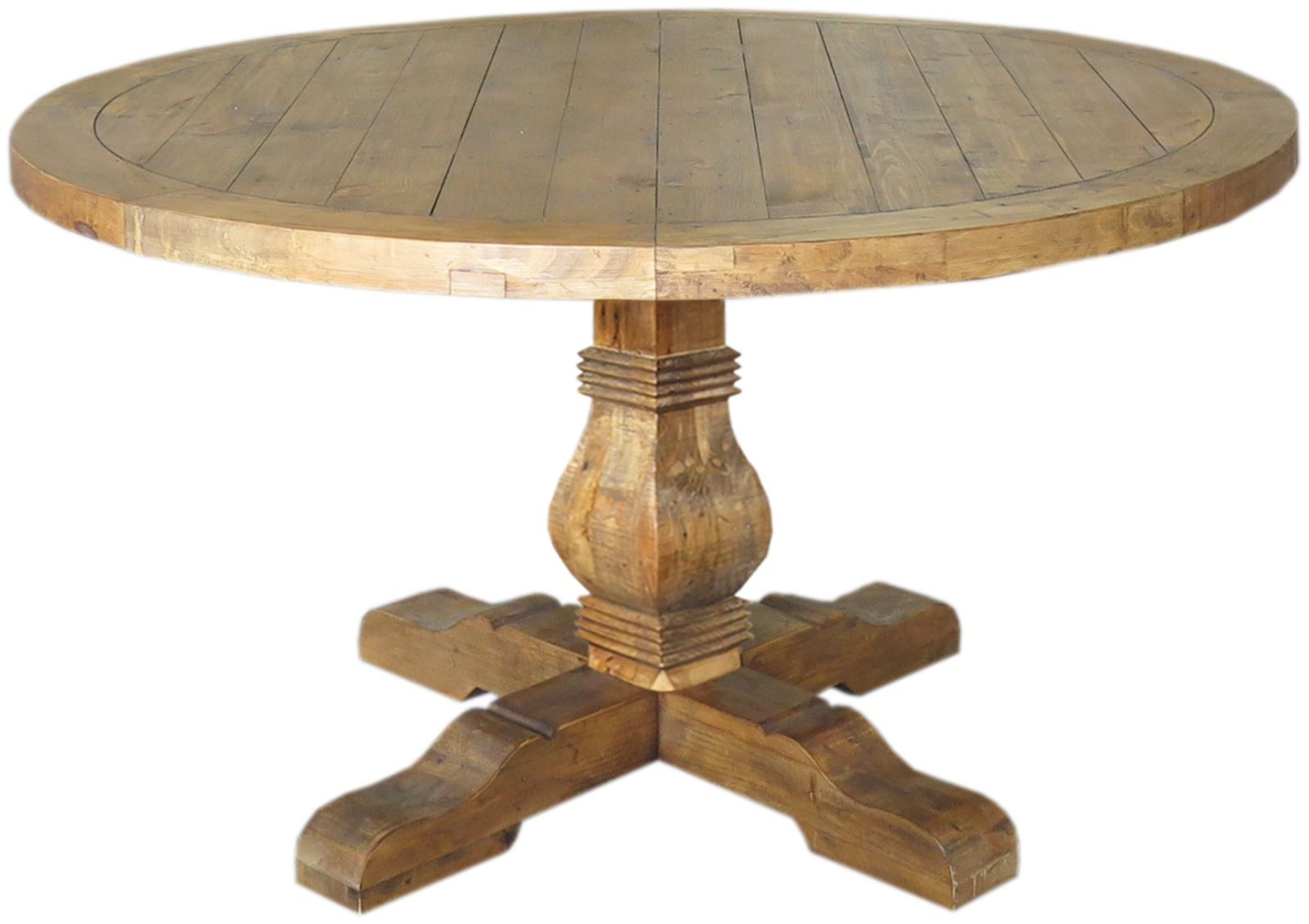 Classic Furniture Camrose Reclaimed Pine Round Dining Table ...