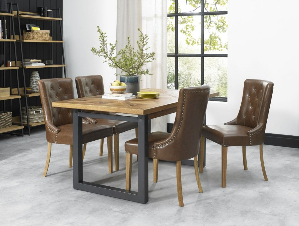 Bentley Designs Indus 4 6 Seater Dining Table Michael O Connor Furniture