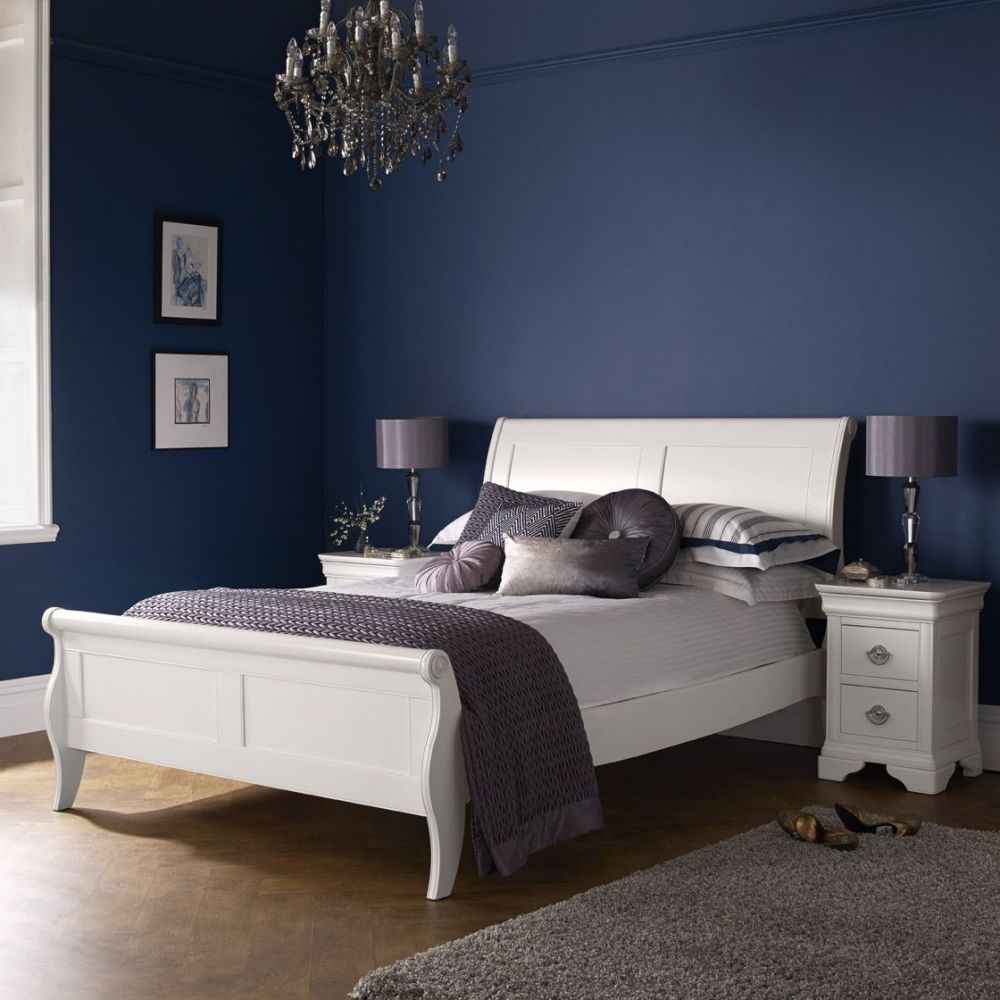 Bentley Designs Chantilly White 150cm Panel Bedstead Michael O Connor Furniture