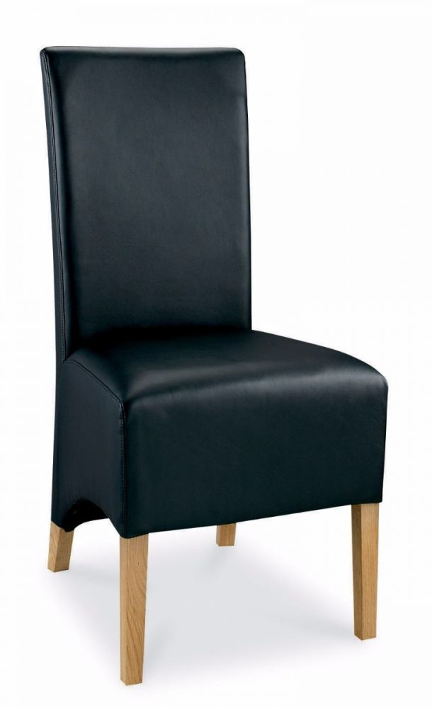 Miraculous Bentley Designs Wing Back Dining Chair Black Faux Leather Pair Inzonedesignstudio Interior Chair Design Inzonedesignstudiocom