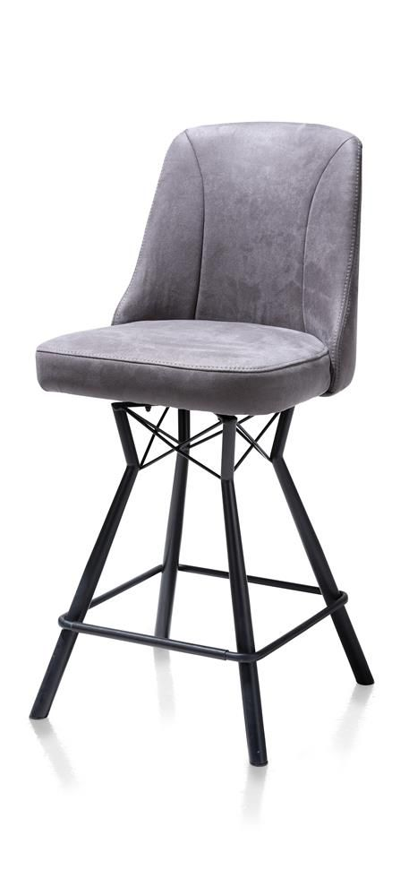 Excellent Habufa Eefje Detroit Bar Stool Anthracite Ibusinesslaw Wood Chair Design Ideas Ibusinesslaworg