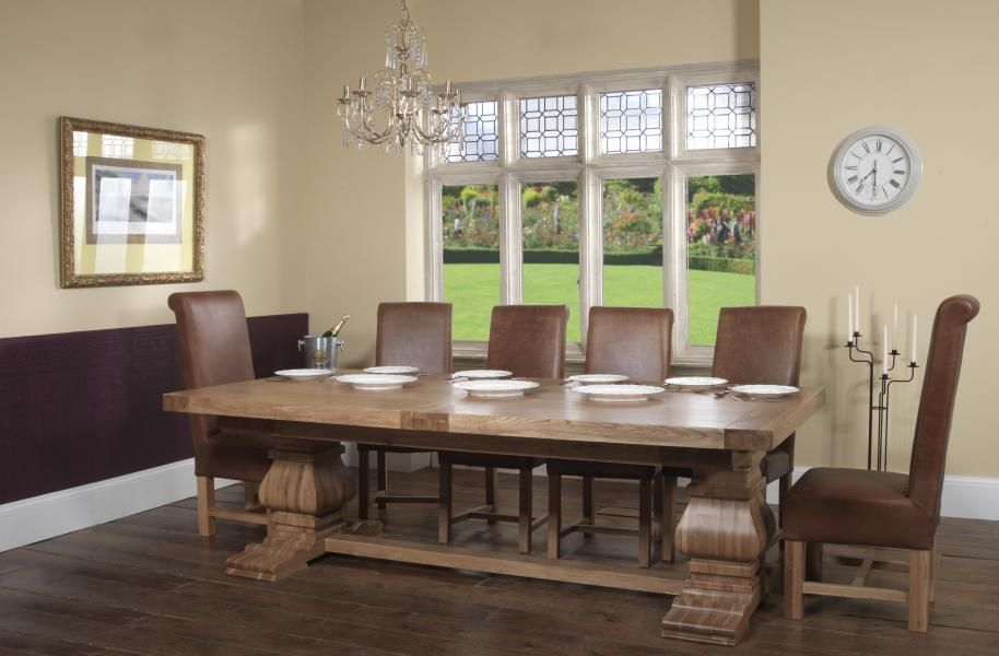 Carlton Windermere Dining Rustic Monastery Extending Dining Table
