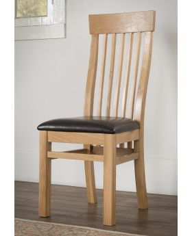 Michael O'Connor Valencia Pair of Valencia Oak Dining Chairs