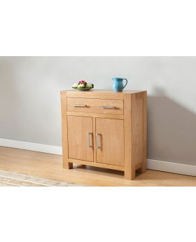 Michael O'Connor Lucerne Compact 2 Door Oak Sideboard with 1 Drawer
