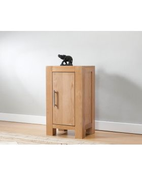 Michael O'Connor Lucerne Small 1 Door Oak Cabinet