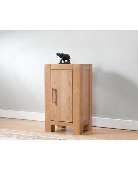 Michael O'Connor Lucerne Small 1 Door Oak Cabinet