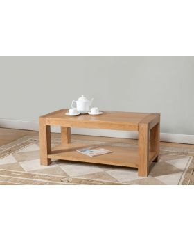 Michael O'Connor Lucerne Oak Coffee Table with Shelf