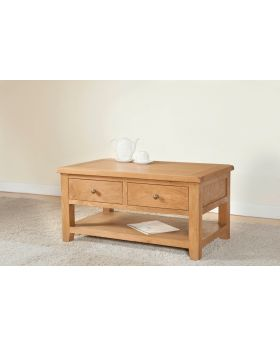 Michael O'Connor Shrewsbury Oak Coffee Table with 2 Drawers
