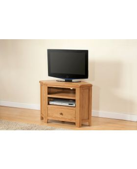 Michael O'Connor Shrewsbury Corner Oak TV Unit