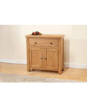Michael O'Connor Shrewsbury Compact 2 Door Oak Sideboard with 1 Drawer