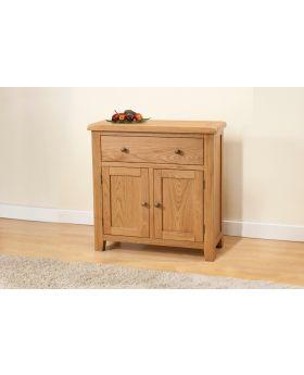 Michael O'Connor Shrewsbury Compact 2 Door Oak Sideboard with 1 Drawer