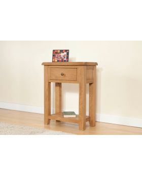 Michael O'Connor Shrewsbury Small Oak Console Table with 1 Drawer & Shelf