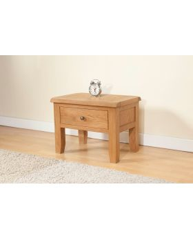 Michael O'Connor Shrewsbury Oak Side Table with Drawer