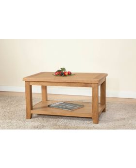 Michael O'Connor Shrewsbury Oak Standard Coffee Table with Shelf