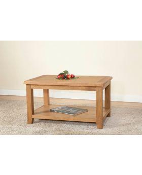 Michael O'Connor Shrewsbury Oak Standard Coffee Table with Shelf