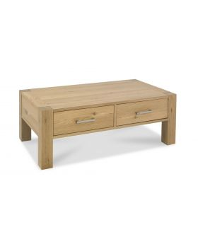 Turin Light Oak Coffee Table With Drawers
