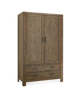 Turin Dark Oak Large Double Wardrobe