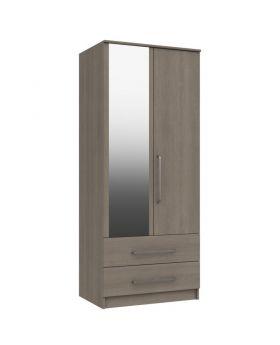 Minnesota 2 Door Combi Robe With Mirror