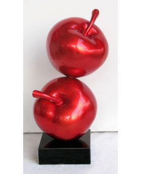 Two Red Apples Sculpture