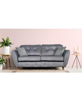 GFA Holborn Fixed 3 Seater Sofa In Silver