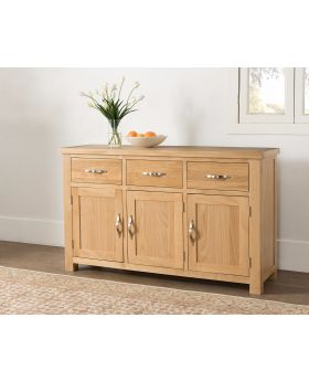Michael O'Connor Venice 3 Door Oak Sideboard