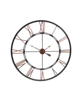 Libra oversized metal skeletal wall clock