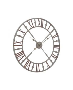 Libra antique grey skeleton wall clock
