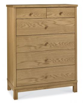 Bentley Designs Atlanta Oak 4+2 Drawer Chest