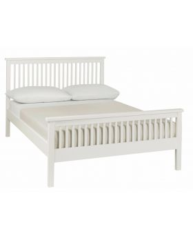Bentley Designs Atlanta White 150Cm High Footend Bedstead