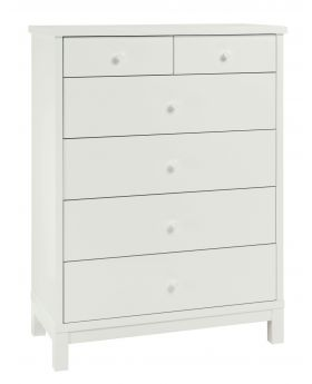 Bentley Designs Atlanta White 4+2 Drawer Chest