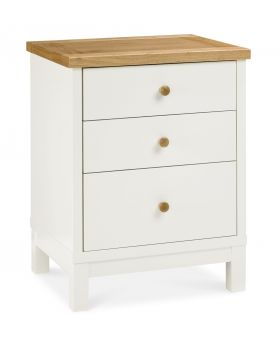 Bentley Designs Atlanta Two Tone 3 Drawer Nightstand