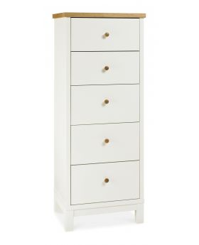 Bentley Designs Atlanta Two Tone 5 Drawer Tall Chest