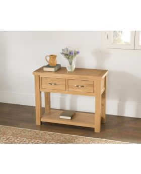 Michael O'Connor Valencia Large Oak Console Table