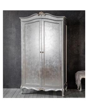 Frank Hudson Chic 2 Door Wardrobe Silver