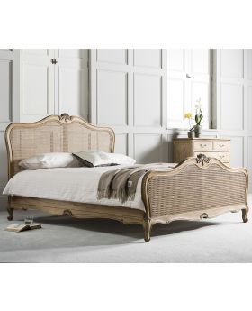 Frank Hudson Chic 6' Cane Bed Weathered