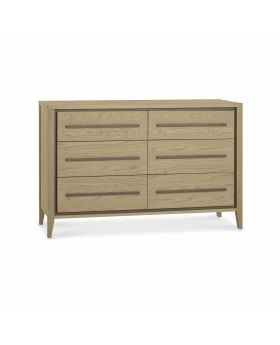 Bentley Designs Rimini Aged Oak & Weathered Oak 6 Drawer Chest