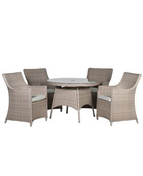 Lisbon Outdoor Rattan Dining Set