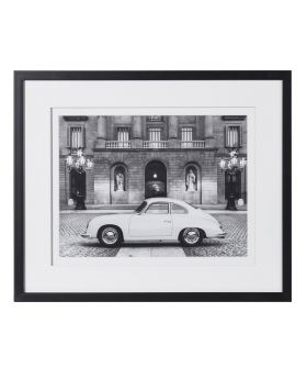 Vintage Porsche Black & White Picture