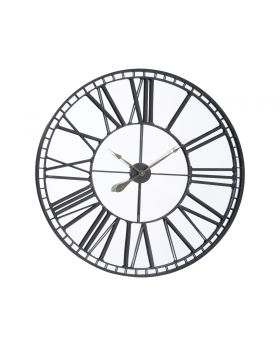 Libra Skeleton Mirror Wall Clock