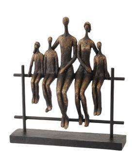 Libra Duxford Bench Family of 5 Sculpture