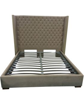 April Cream Buttoned Back Super Kingsize Bed Frame
