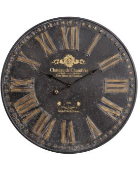 Libra Antique Iron Chateau Wall Clock