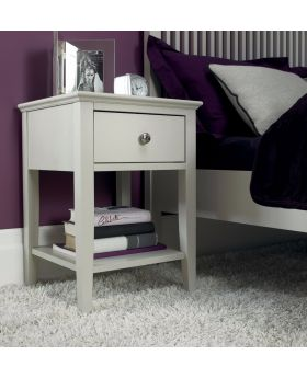 Bentley Designs Ashby Cotton 1 Drawer Nightstand