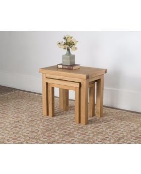 Michael O'Connor Valencia Nest of 2 Oak Tables