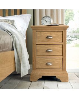 Bentley Designs Hampstead Oak 3 Drawer Nightstand