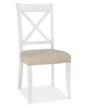 Bentley Designs Hampstead Two Tone X Back Chair (Pair)