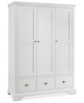 Bentley Designs Hampstead White Triple Wardrobe