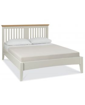 Bentley Designs Hampstead Soft Grey & Pale Oak 150Cm Slatted Bedstead